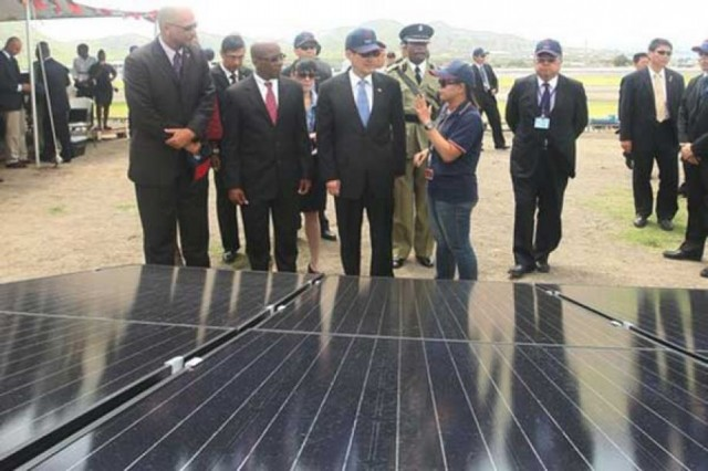 Ma's stay in St. Kitts and Nevis casts spotlight on solar power